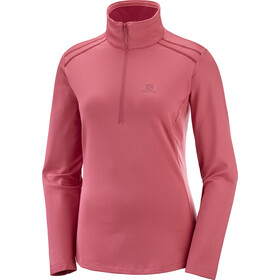 Salomon Discovery LT Half Zip Midlayer Damen garnet rose